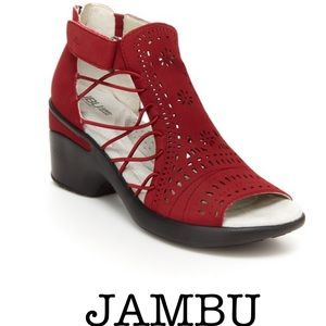 JBU by JAMBU Red Nelly Encore wedge Sandals